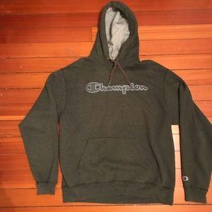 Vintage olive green Champion hoodie